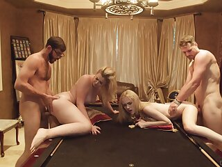 Bitches decide to swap lovers in a crazy foursome attempt