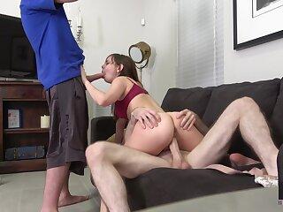 Kinky chick back pygmy body Shae Celestine gets fucked hard