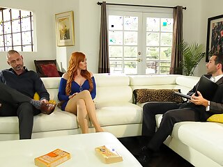Redhead tie the knot Lauren Phillips rides another man to the fore of hubby