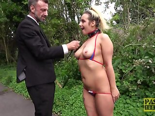 Beautiful Candice Banks starkers outdoors and fucked hard in private