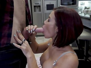 Lecherous milf Ryder Skyes gets intimate with husband's younger brother