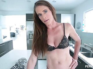 Skinny brunette babe with a navel piercing, Sofie Marie is waiting to get a huge cock