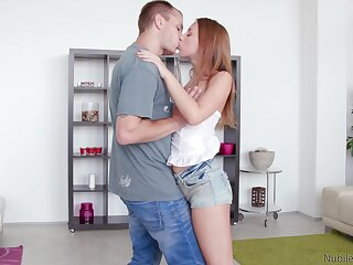 Foremost time this ginger hon tries sex with her stepbrother