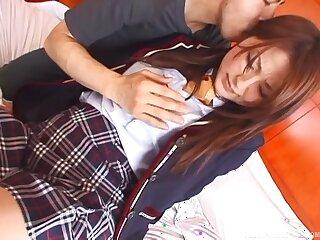 Appealing Japanese schoolgirl endures bushwa in both holes