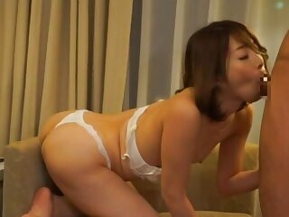 Japanese girlfriend gets surprised by a small dicked boyfriend